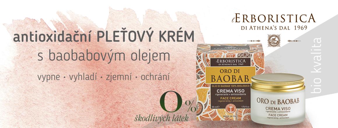 Pleťový krém antioxidační s baobabovým olejem Erboristica di Athena's